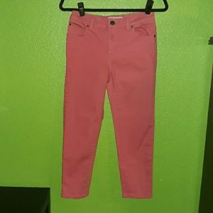 Peachy Pink Marc by Marc Jacob's Cropped Jeans